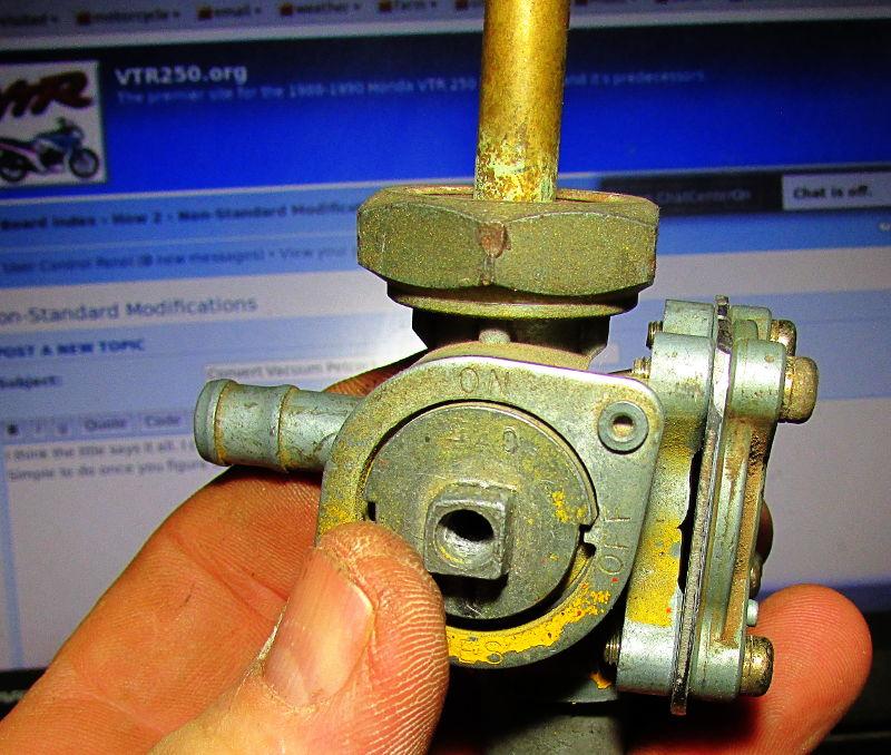 VTR250 org • View topic - Convert Vacuum Petcock to manual